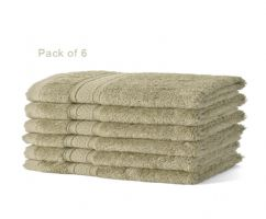 6 x 50% Bamboo 50% Cotton Anti Fungal, Face Cloths Latte Beige